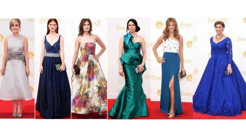 emmy 2014 -  Kiernan Shipka, Rose Leslie, Betsy Brand, Laura Prepon, Anna Gunn e Mayim Bialik
