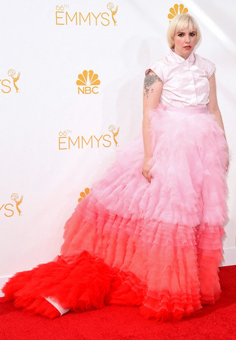 66th Annual Primetime Emmy Awards - Arrivals - Lena Dunham