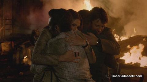 Castle: fogo, papai Castle, Hanna Montana, um vestido de noiva e Carrie a Estranha (6x11 a 6x15)