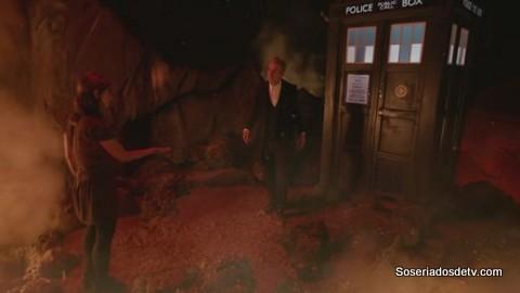 Doctor Who: Dark Water 8x11 s08e11 clara doctor vulcão vulcano