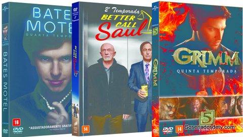 Próximos lançamentos em DVD/Blu-ray incluem novas temporadas de Grimm, Bates Motel e Better Call Saul