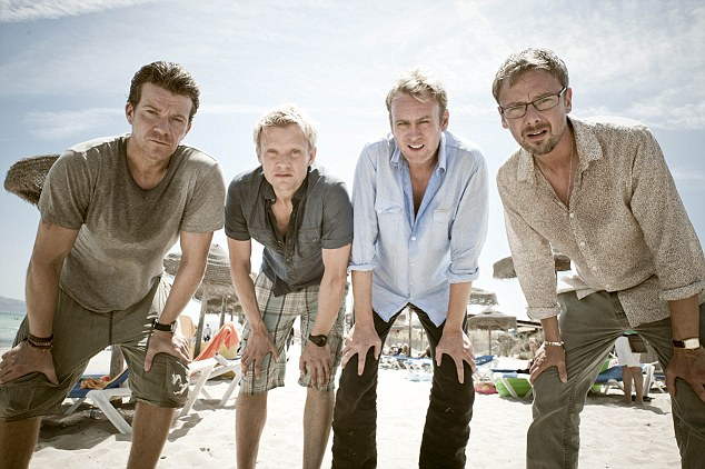 Mad Dogs 2 Max Beesley, Marc Warren, Phillip Glenister and John Simm ©Des Willie for Sky1HD